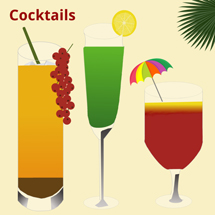 Funny Cocktails in different Colors